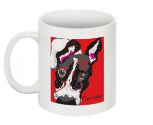 digital dog mug